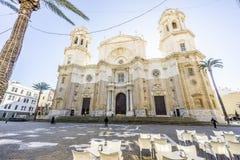 La cathédrale de Cadix a construit entre 1722 et 1838, Andalousie, Espagne Image stock