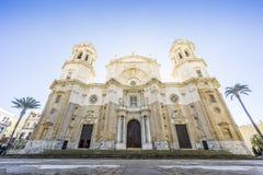 La cathédrale de Cadix a construit entre 1722 et 1838, Andalousie, Espagne Photos stock
