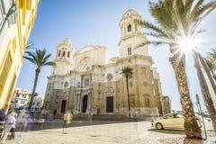 La cathédrale de Cadix a construit entre 1722 et 1838, Andalousie, Espagne Photos libres de droits