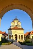 La cathédrale de couronnement en Alba Iulia, Roumanie image libre de droits