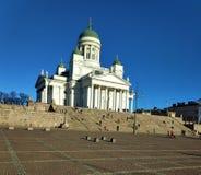 La cathédrale de Helsinki avec la place de sénat image libre de droits