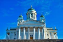 La cathédrale de Helsinki, se ferment, la Finlande Photo stock