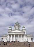 La cathédrale de Helsinski dans la vieille ville de Helsinski, Finlande Photos stock