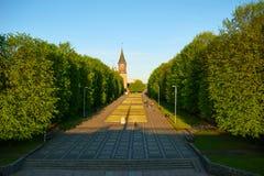 La cathédrale de Kenigsberg est symbole principal de la ville Kaliningrad image stock