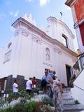 La cathédrale de l'île de Capri Photos libres de droits