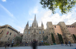 La cathédrale de la croix et du saint saints Eulalia, Barcelone, PS Photo stock