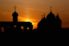 La cathédrale de la rue Sophia dans Novgorod Images libres de droits