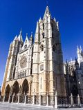 La cathédrale de Leon Photographie stock libre de droits