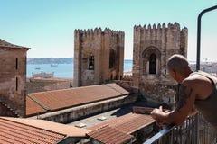 La cathédrale de Lisbonne images stock