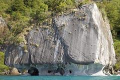 La cathédrale de marbre au Général Carrera Lake, Patagonia, Chili Image libre de droits