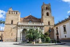 La cathédrale de Monreale, près de Palerme, l'Italie Images stock