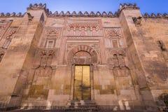 La cathédrale de mosquée à Cordoue, Espagne Mur extérieur avec grand Image stock