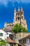 La cathédrale de Notre Dame de Lausanne image libre de droits
