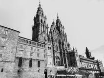 La cathédrale de Saint-Jacques-de-Compostelle image stock