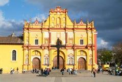La cathédrale de San Cristobal de Las Casas sur le Mexique Images stock