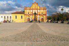 La cathédrale de San Cristobal de Las Casas sur le Mexique Photographie stock libre de droits