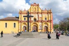 La cathédrale de San Cristobal de Las Casas sur le Mexique Photos libres de droits