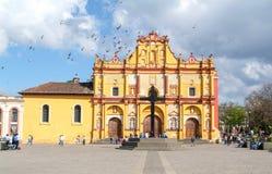 La cathédrale de San Cristobal de Las Casas sur le Mexique Images libres de droits