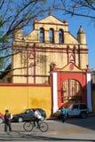 La cathédrale de San Cristobal de Las Casas sur le Mexique Image stock
