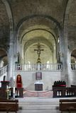 La cathédrale de San Leo en Italie Photo stock