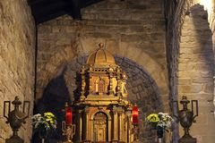 La cathédrale de San Leo en Italie Images libres de droits