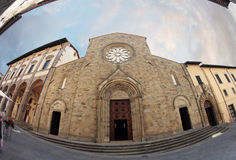 La cathédrale de Sansepolcro Photos stock
