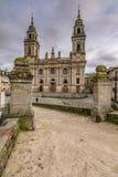 La cathédrale de Santa MarÃa De Lugo est un temple catholique, baroque, néoclassique de style en Galicie Espagne image libre de droits