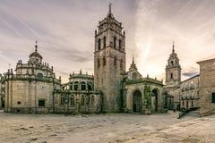 La cathédrale de Santa MarÃa De Lugo est un temple catholique, baroque, néoclassique de style en Galicie Espagne photographie stock libre de droits