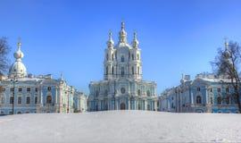 La cathédrale de Smolny, St Petersburg, Russie image libre de droits