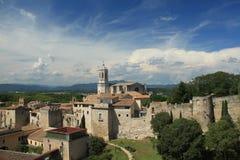 La cathédrale de St Mary à Gérone Photo libre de droits