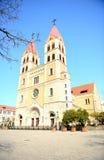 La cathédrale de St Michael à Qingdao Photo stock