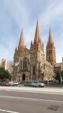 La cathédrale de St Paul à Melbourne, Australie image libre de droits