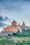 La cathédrale de St Paul dans Mdina, Malte Photographie stock