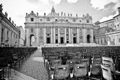 La cathédrale de St Peter à Vatican Images libres de droits