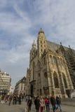 La cathédrale de St Stephen à Vienne images libres de droits