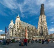 La cathédrale de St Stephen, Viena, Autriche Photographie stock libre de droits