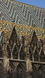 La cathédrale de St Stephen, Vienne - détail photos libres de droits