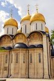 La cathédrale de supposition à Moscou Kremlin Images stock
