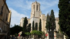 La cathédrale de Tarragone images stock