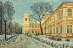 La cathédrale de trinité du lavra d'Alexander Nevsky Photographie stock libre de droits