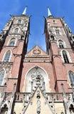 La cathédrale de Wroclaw, Pologne photos libres de droits