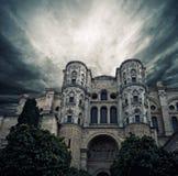 La cathédrale du cas, Malaga Images stock