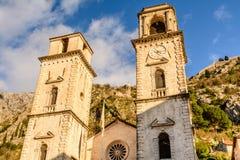 La cathédrale du saint Tryphon dans Kotor Photos libres de droits