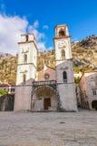 La cathédrale du saint Tryphon dans Kotor Images libres de droits