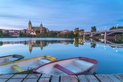La cathédrale et le pont photos libres de droits