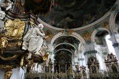 la cathédrale gallen la rue Images stock