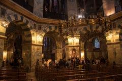 La cathédrale la plus ancienne en Europe du Nord à Aix-la-Chapelle Images stock
