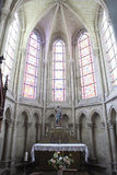 La cathédrale, le Mans, France Images stock