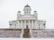La cathédrale luthérienne à Helsinki Photos stock