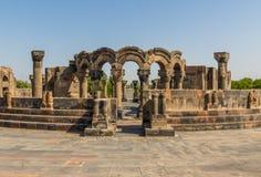 La cathédrale merveilleuse de Zvartnots, Arménie photo stock